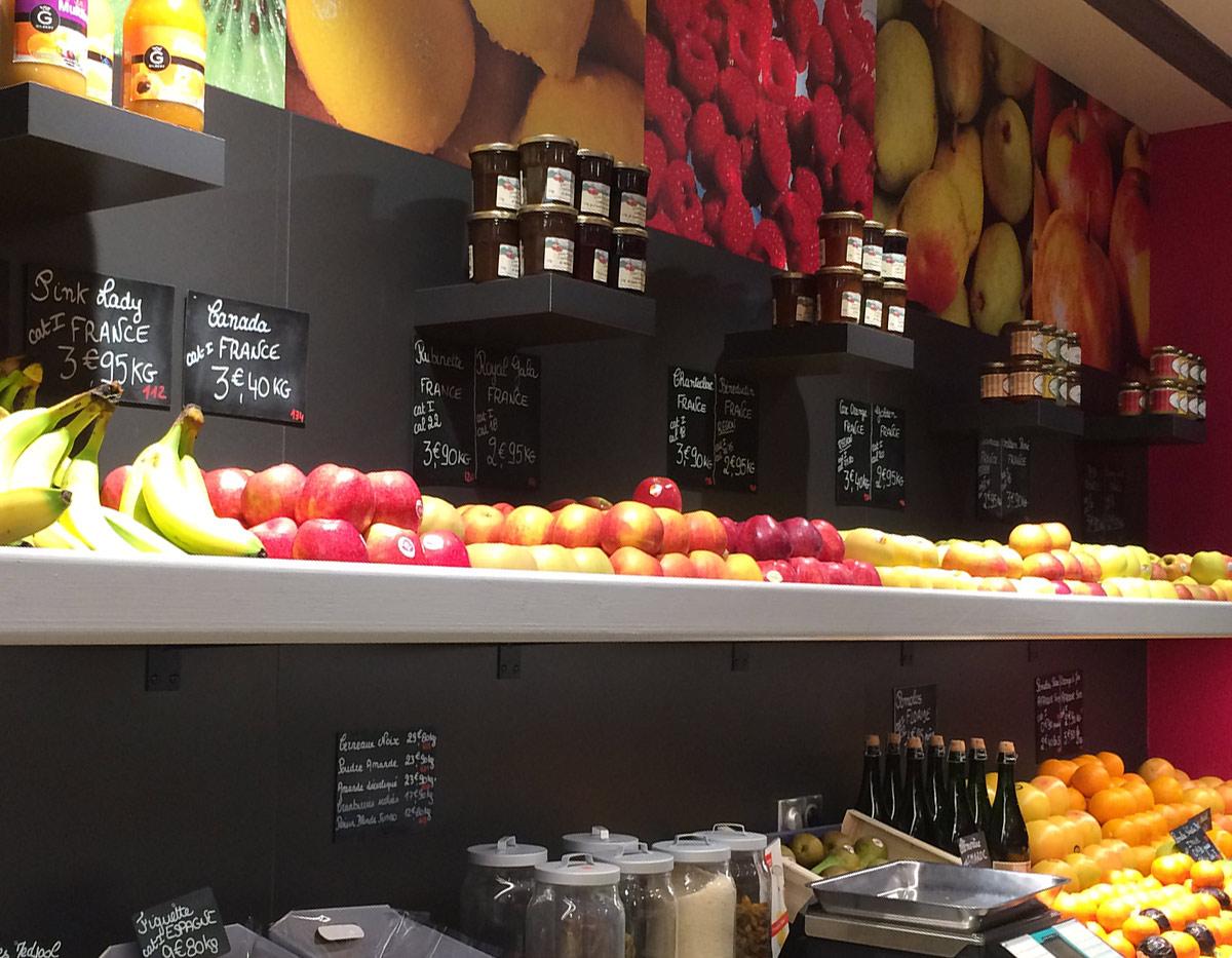 Création de meuble pour magasin fruits et légumes