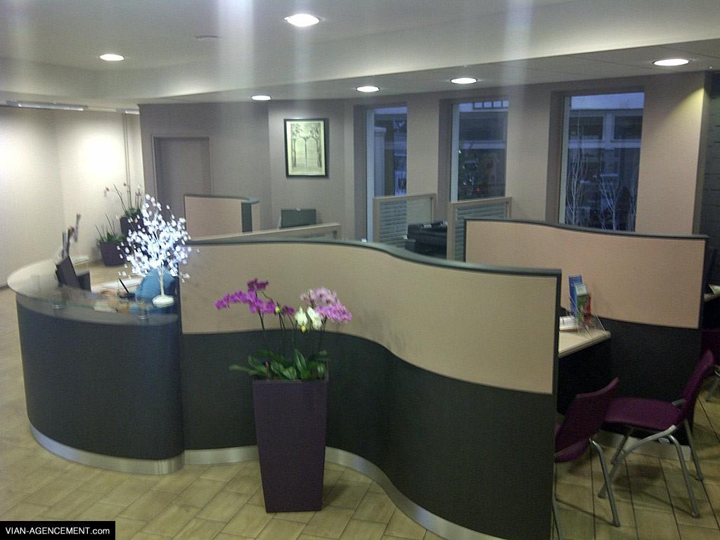 Agencement de bureaux, mairie de Cléon